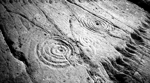 Cup-and-ring carvings in Achnabreck, Scotland