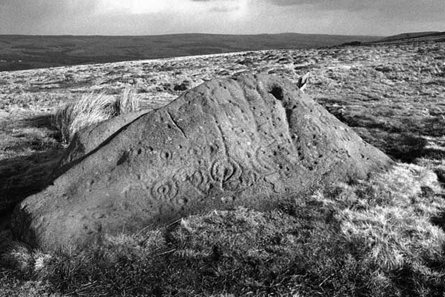 The Badger Stone on Ilkley Moor