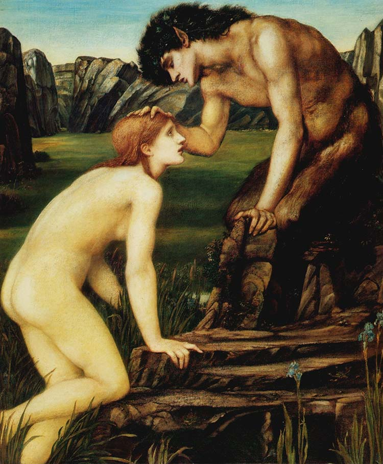'Pan and Psyche' by Edward Burne-Jones (1874)